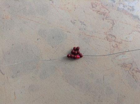 Начало плетения крыла бабочки