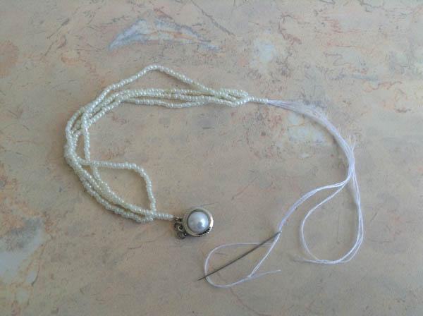 Соединение бисерных ниток