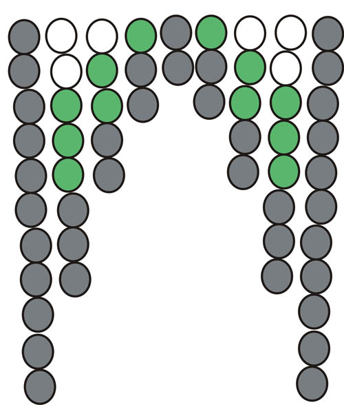 Схема низания бахромы