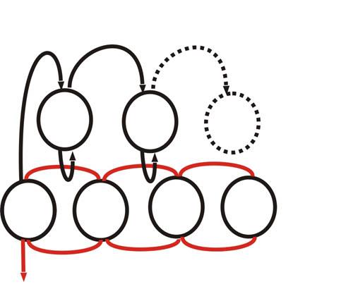 Схема продевания нити
