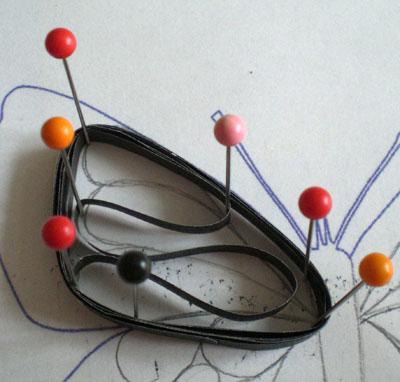 Бабочка в технике квилинг
