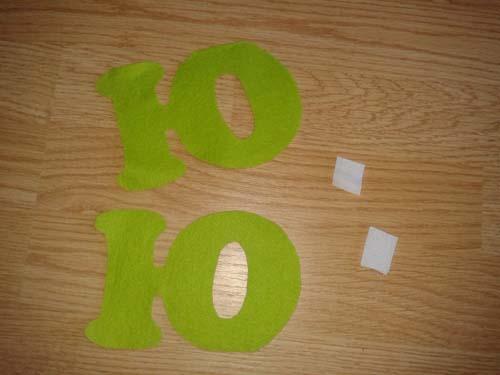 Заготовки буквы из фетра