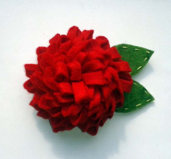 Цветок Георгин из фетра