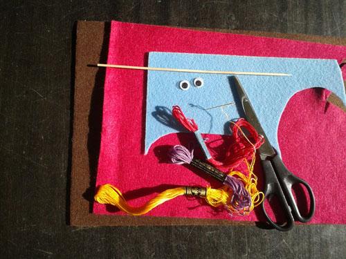 Материалы для изготовления совы из фетра