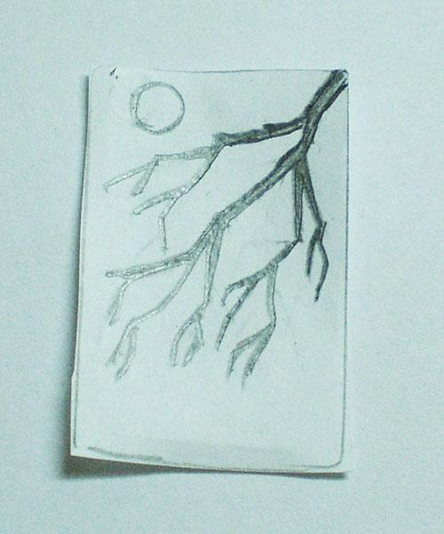 Нанесение рисунка на серьги