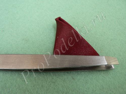 Обрезка части лепестка