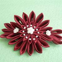Цветок канзаши с острым лепестком