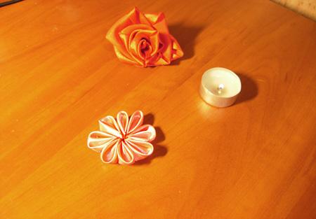 Сшиваем все лепестки в один цветок
