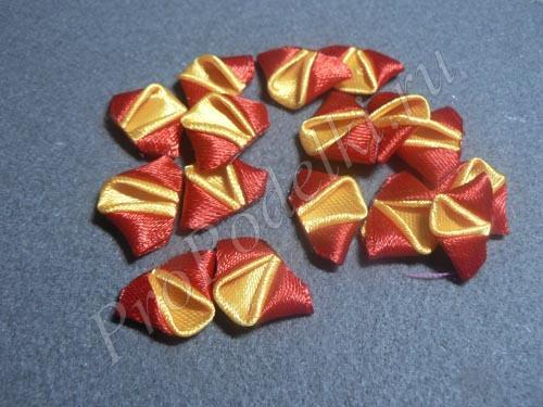 Готовые заготовки лепестков для двухцветной розы