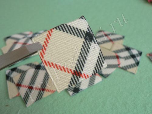 Готовые квадратики для канзаши
