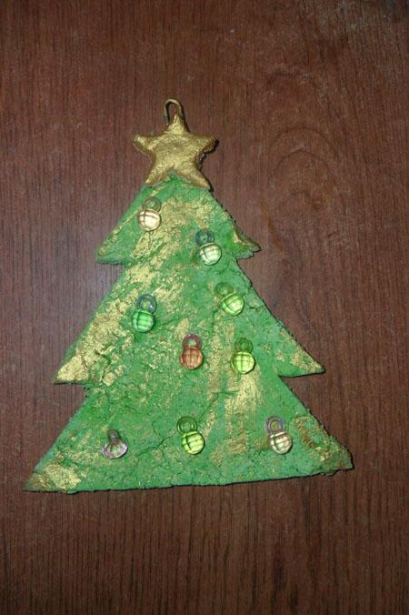 Украсить елку из соленого теста