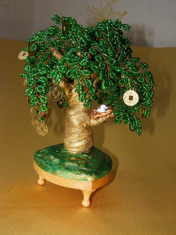 Деенежное дерево из проволоки