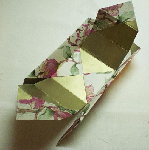Изготовление подарочной коробки из салфеток