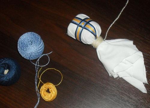 Изготовление головы куклы-мотанки