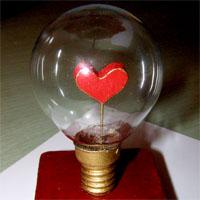 Сердечко в лампочке