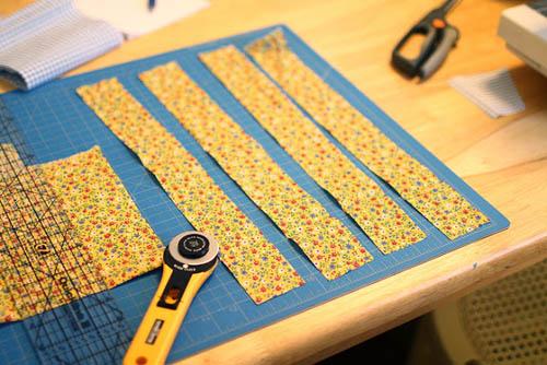 Полоски ткани для завязок