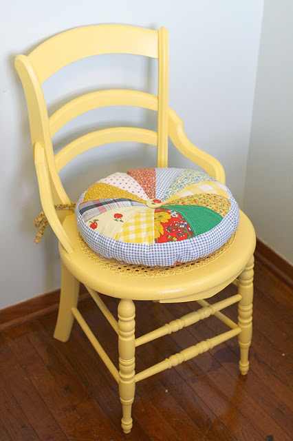 Круглая подушка на стул своими руками