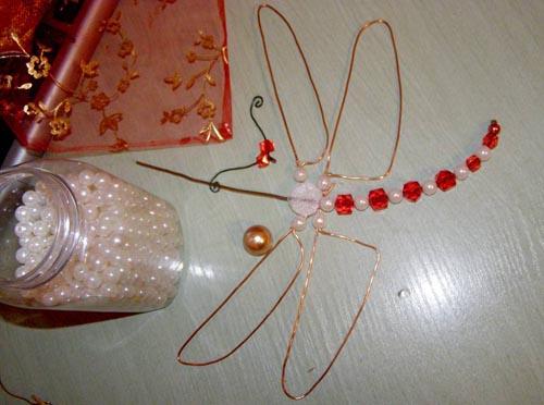 Изготовление тела стрекозы